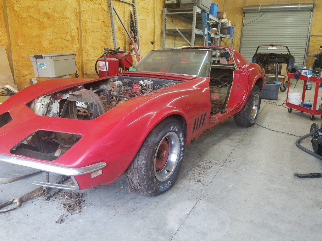 no interior 1968 Chevrolet Corvette project