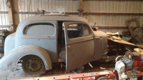 original drivetrain 1936 Chevrolet TUDOR project for sale