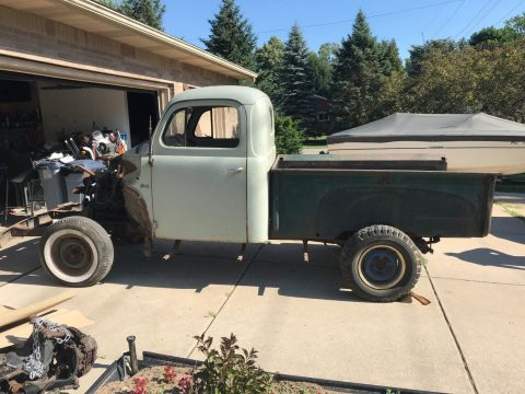 solid 1950 Ford F1 Pickup project for sale