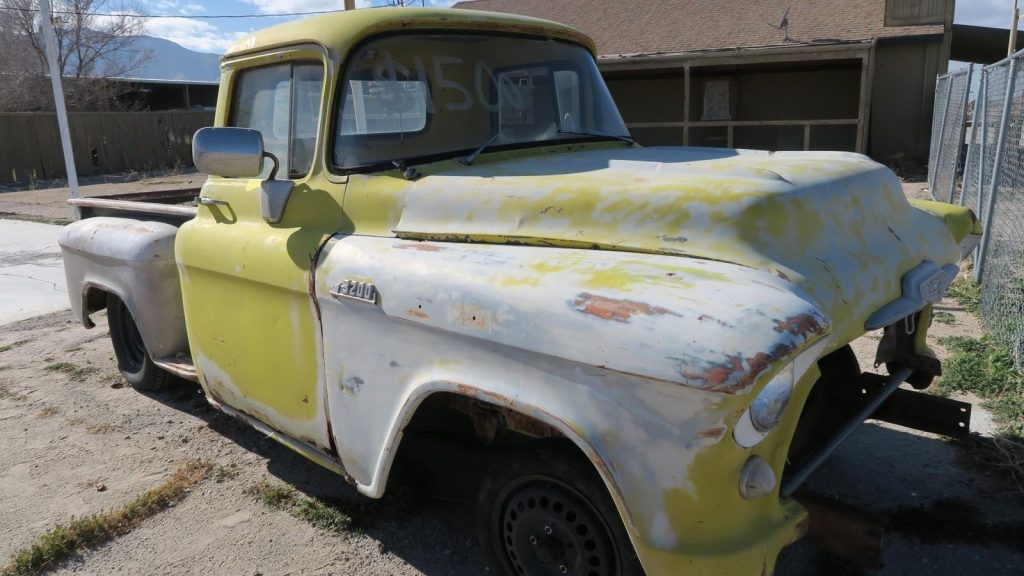 solid 1956 Chevrolet Pickups 3200 Short bed Project