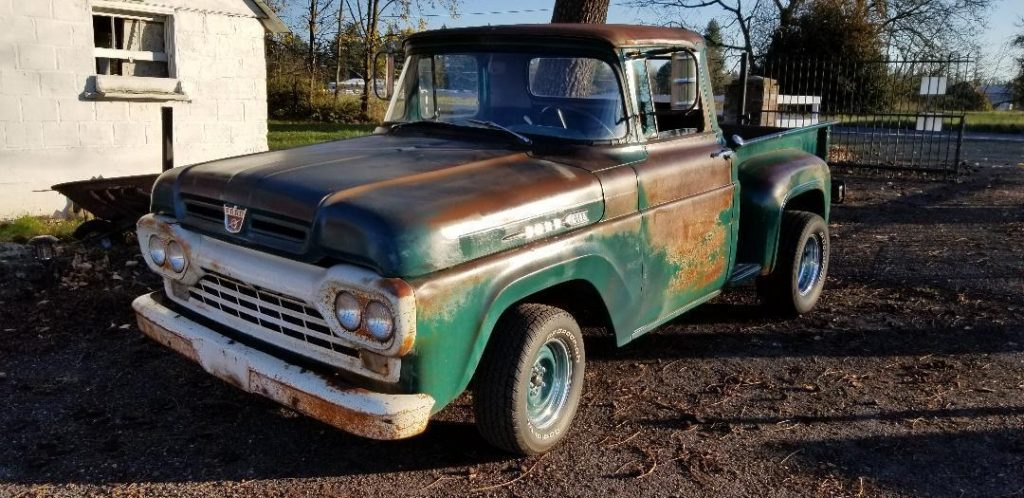 solid 1960 Ford F 100 pickup project