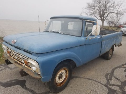 solid barn find 1966 Ford F 250 Custom pickup project for sale