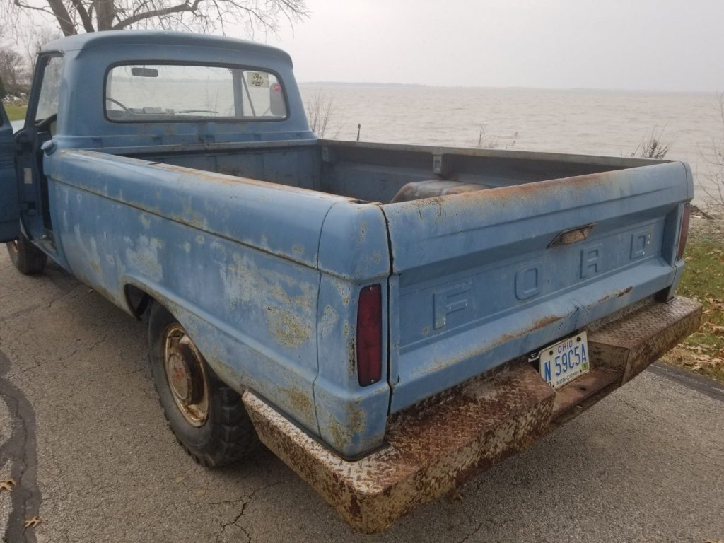 solid barn find 1966 Ford F 250 Custom pickup project