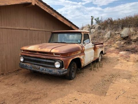 surface rust 1964 Chevrolet C 10 pickup project for sale