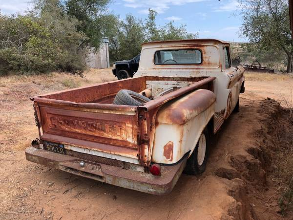 surface rust 1964 Chevrolet C 10 pickup project