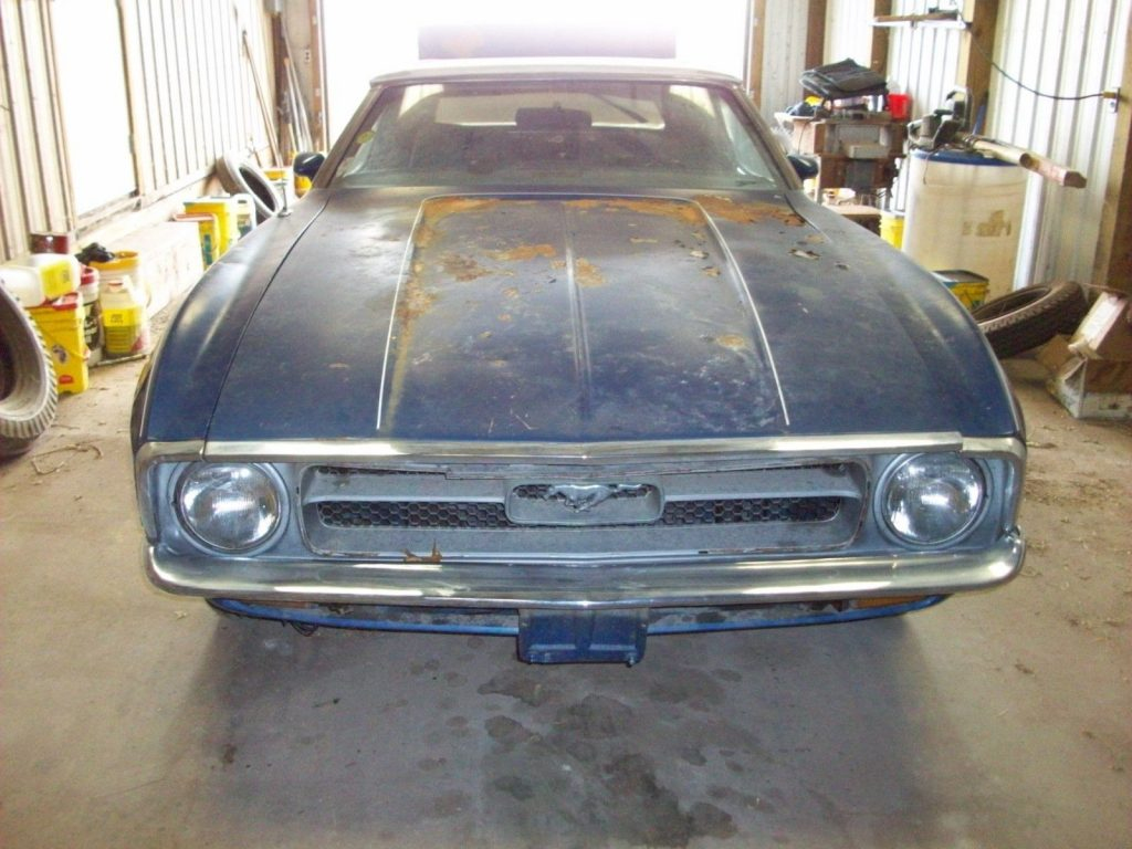 surface rust 1971 Ford Mustang project