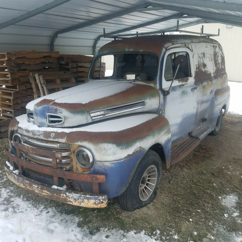 Mercury engine 1948 Ford F1 panel truck project
