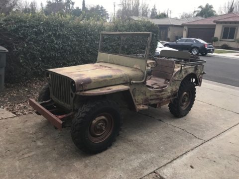 needs restoration 1943 Ford GPW Army Jeep project for sale