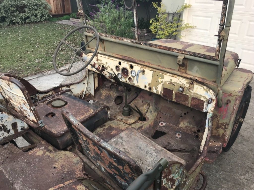 needs restoration 1943 Ford GPW Army Jeep project