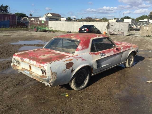 solid frame 1967 Ford Mustang project