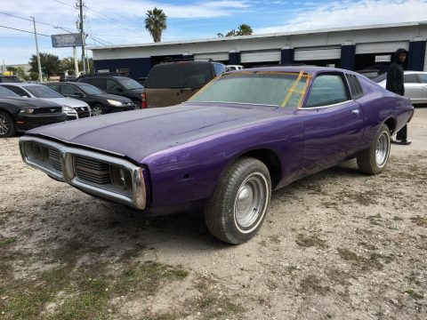 classic muscle car 1974 Dodge Charger project for sale