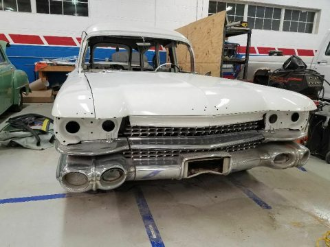 ghostbusters tribute 1959 Cadillac Eureka hearse project for sale