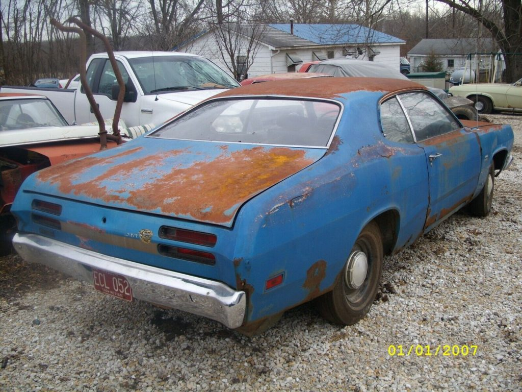 missing transmission 1970 Plymouth Duster project