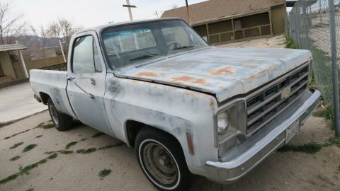 solid 1975 Chevrolet C 10 Custom Deluxe project for sale