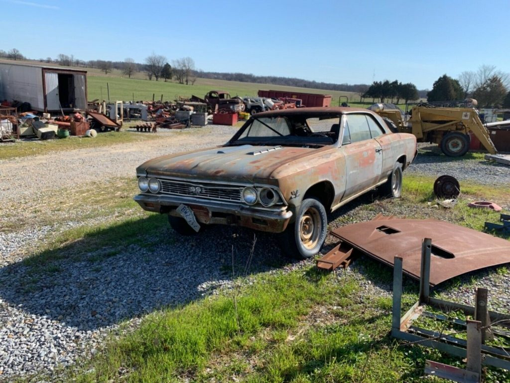 classic 1966 Chevrolet Chevelle 396 SS 4SPD PROJECT