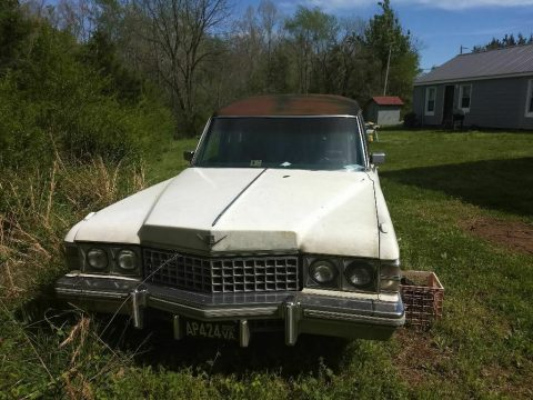 needs TLC 1974 Cadillac Commercial Chassis hearse project for sale