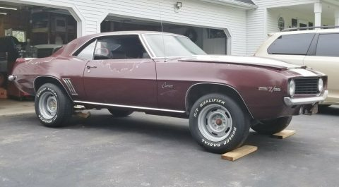 nice 1969 Chevrolet Camaro X33D80 project for sale