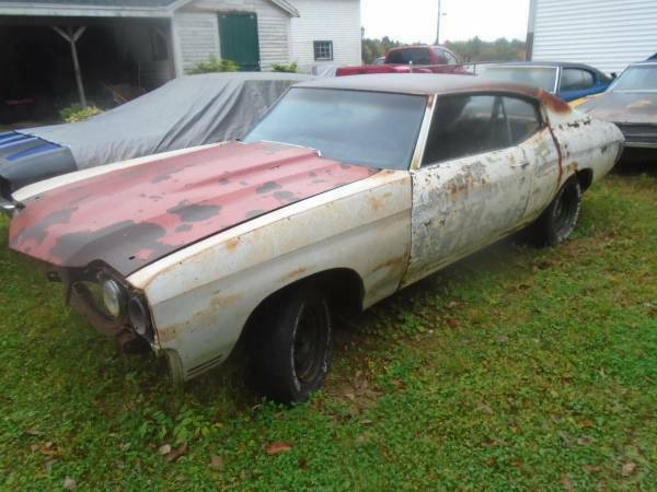 rare Canadian Built 1970 Chevrolet Chevelle project