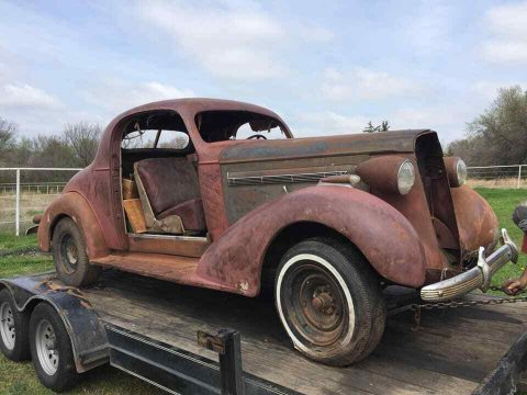 solid 1936 Buick 46 Coupe project for sale