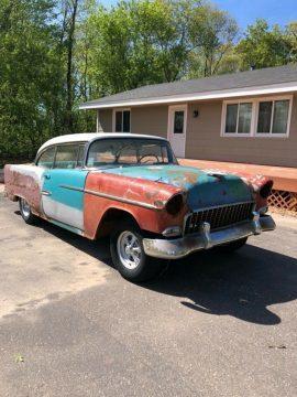 no drivetrain 1955 Chevrolet Bel Air project for sale