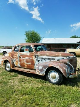 solid 1939 Chevrolet Master 85 Coupe project for sale