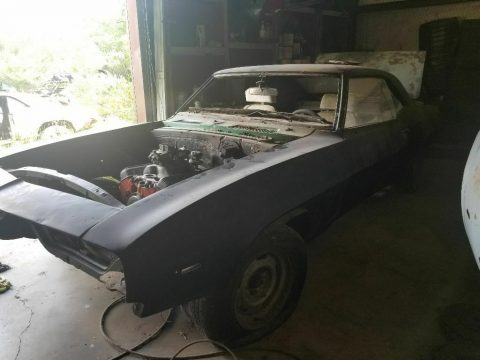 needs TLC 1969 Chevrolet Camaro SS project for sale