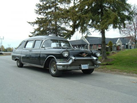 vintage 1957 Cadillac DeVille hearse project for sale