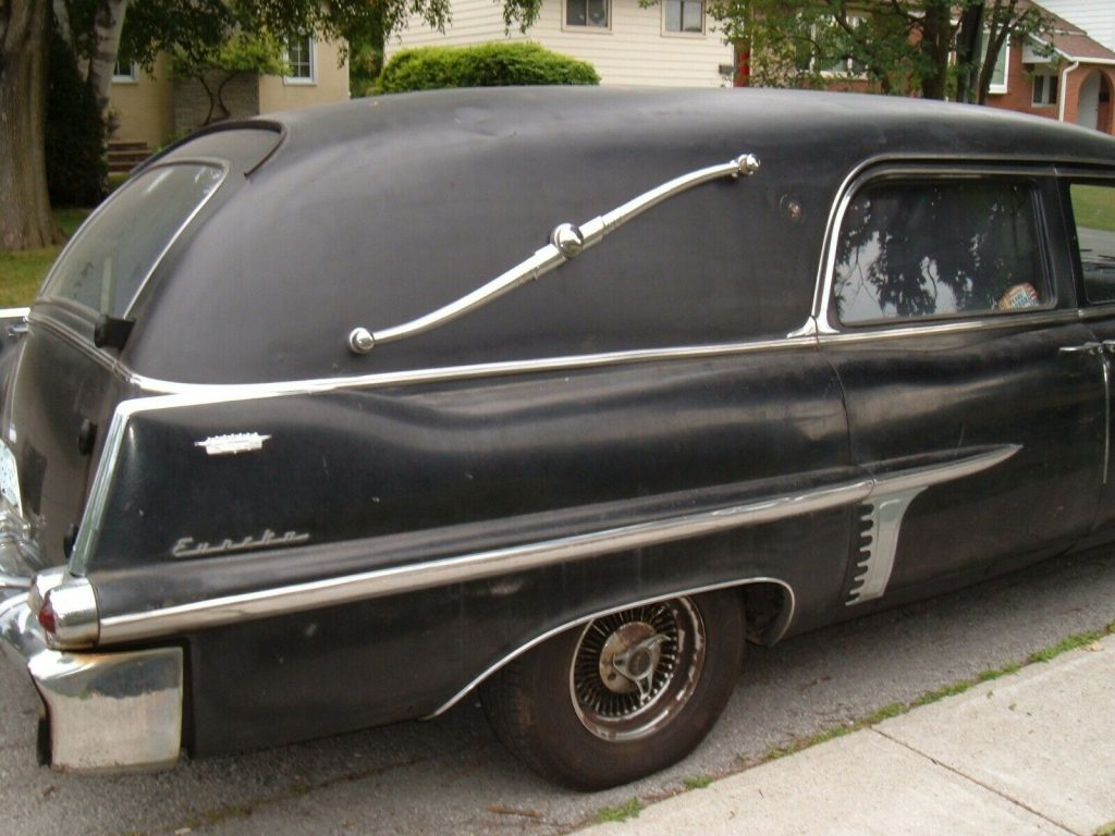 vintage 1957 Cadillac DeVille hearse project