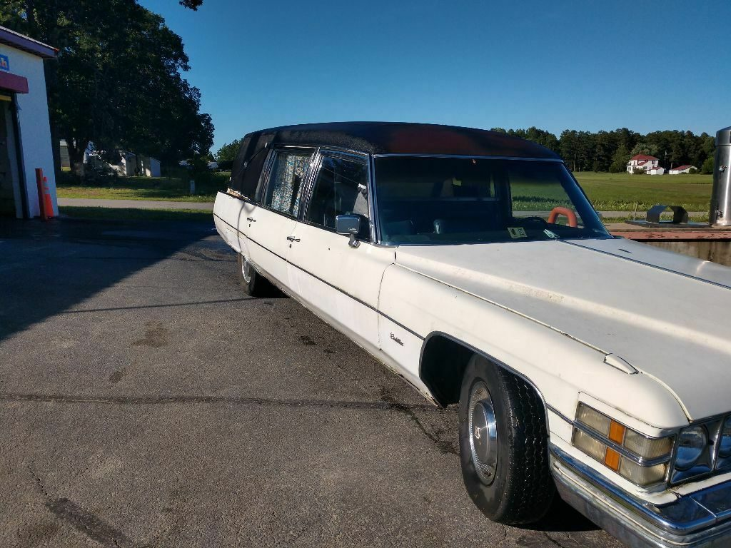 needs TLC 1974 Cadillac Commercial Chassis hearse project