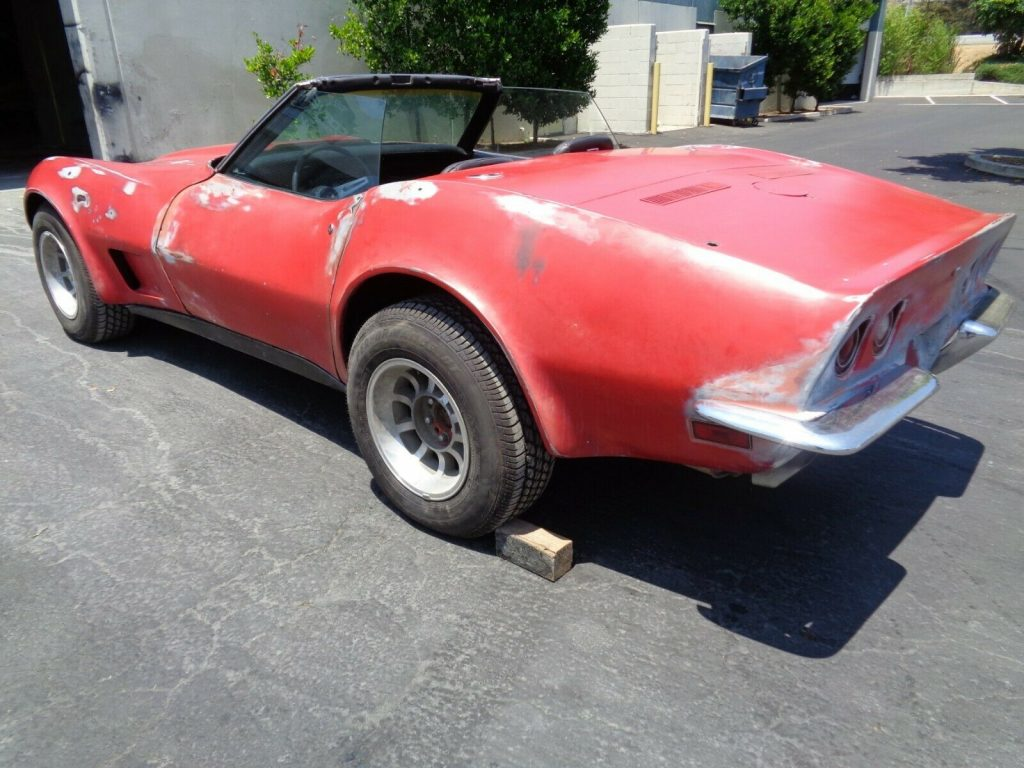Original 454 LS4 1973 Corvette Convertible Project