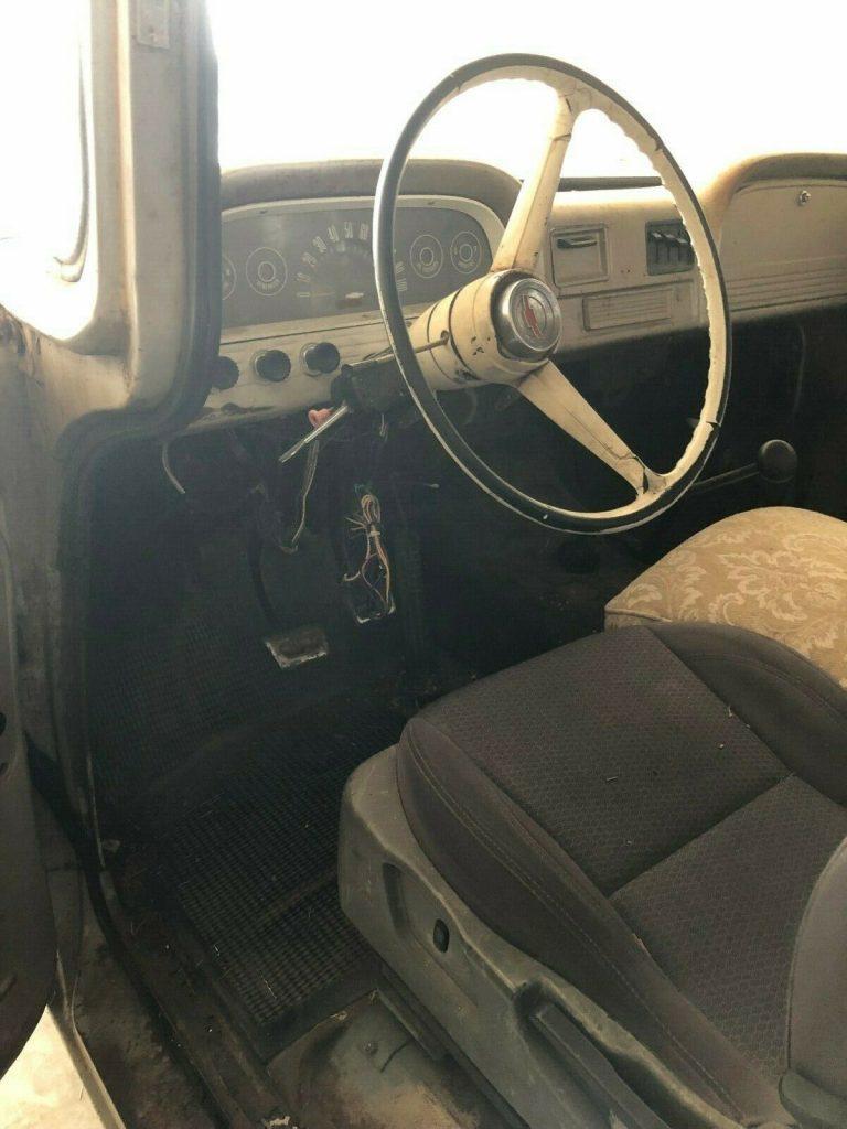 rough but tough 1963 Chevrolet pickup project