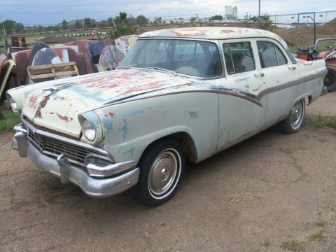 solid 1956 Ford Fairlane Town Sedan Project for sale