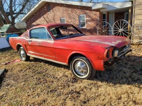 good starter 1965 Ford Mustang Fastback 2+2 project for sale