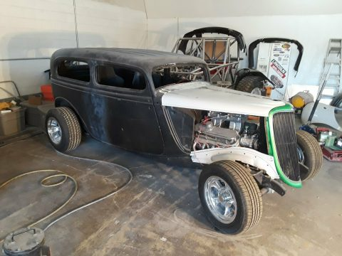 needs to be completed 1934 Ford Tudor Streetrod project for sale