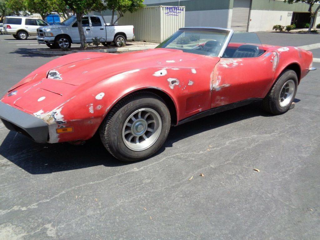 Originally 454 LS4 engine 1973 Corvette Convertible Project