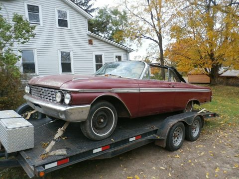 missing engine 1962 Ford Galaxie Convertible Sunliner project for sale