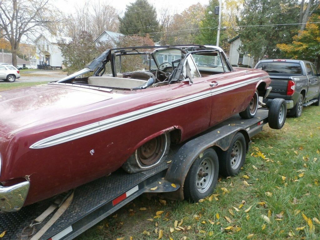 missing engine 1962 Ford Galaxie Convertible Sunliner project