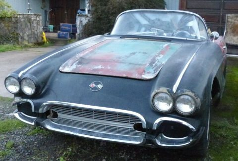 needs full restoration 1962 Chevrolet Corvette Convertible project for sale