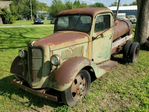 solid 1935 Ford Pickup tanker project for sale
