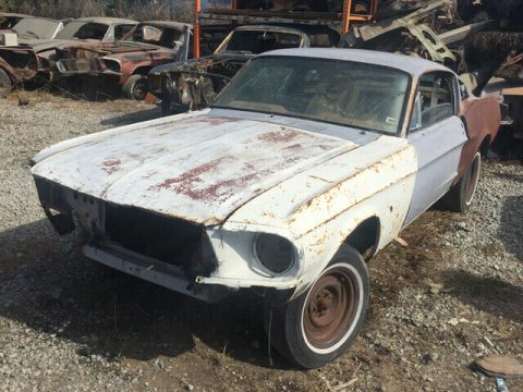 solid 1968 Ford Mustang V 8 Fastback project for sale