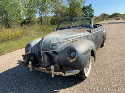 very solid 1939 Mercury Convertible project for sale