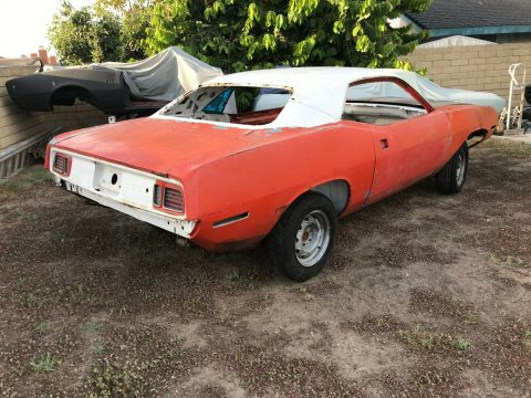 very solid 1971 Plymouth Barracuda project for sale