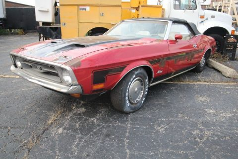 needs work 1972 Ford Mustang Convertible project for sale