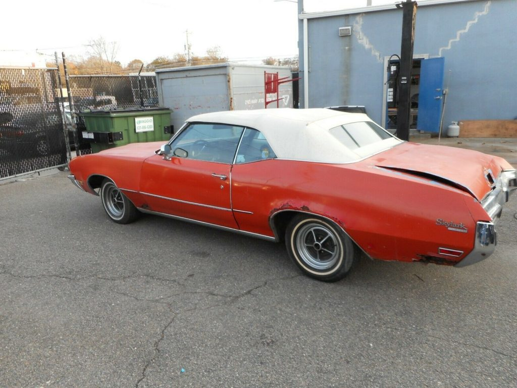 new top 1972 Buick Skylark Convertible project