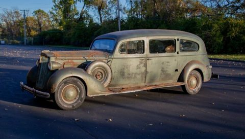 rare 1937 Packard One Twenty Hearse project for sale