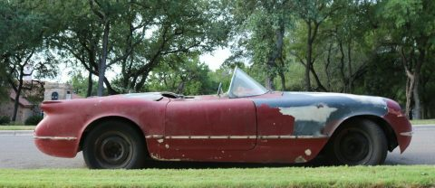 solid 1954 Chevrolet Corvette project for sale