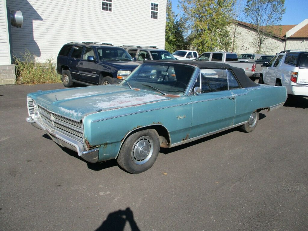 barn find 1967 Plymouth Fury III convertible project