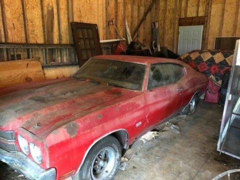 classic 1970 Chevrolet Chevelle SS 396 project for sale