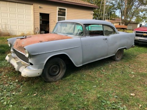 new parts 1955 Chevrolet Bel Air Sport coupe project for sale