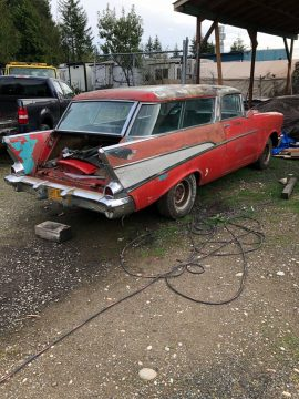 no drivetrain 1957 Chevrolet Nomad project for sale